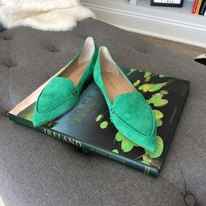 M. Gemi Green Suede Flats Size 6